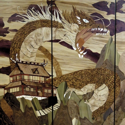 Estampes japonaises, le dragon
